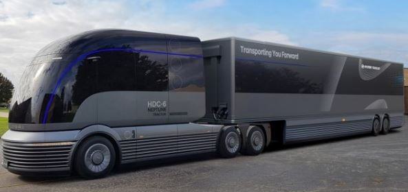 Autonomous zero emission truck future of Hyundai