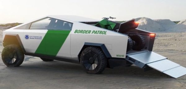 Tesla's Cyber truck Dubai Police full image