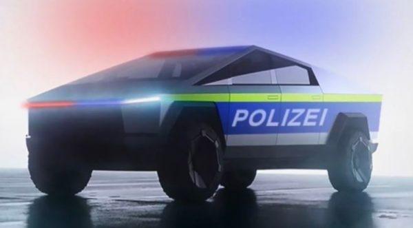 Tesla's Cyber truck Dubai Police view
