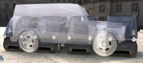 squad solar car uses very less space to park