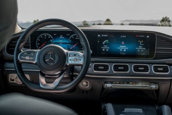 2020 Mercedes Benz GLS entertainment cluster