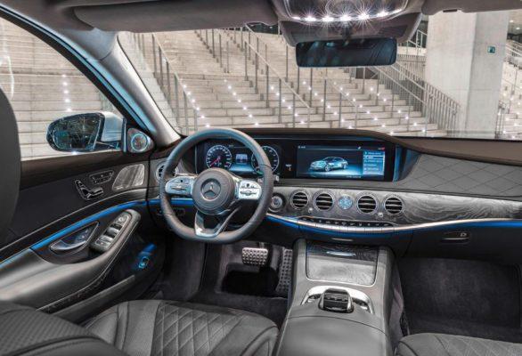 2020 Mercedes Benz S Class front Cabin Interior