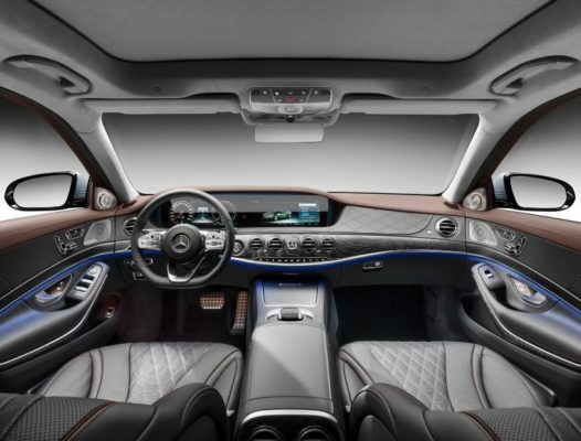 2020 Mercedes Benz S Class full interior view