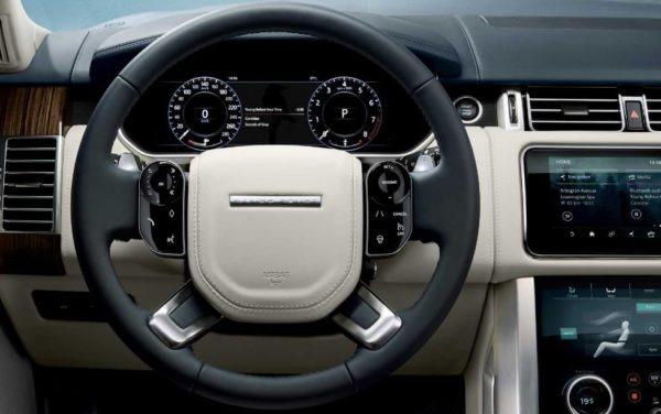 2020 Range Rover vogue information cluster