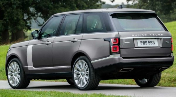 2020 Range Rover vogue rear view