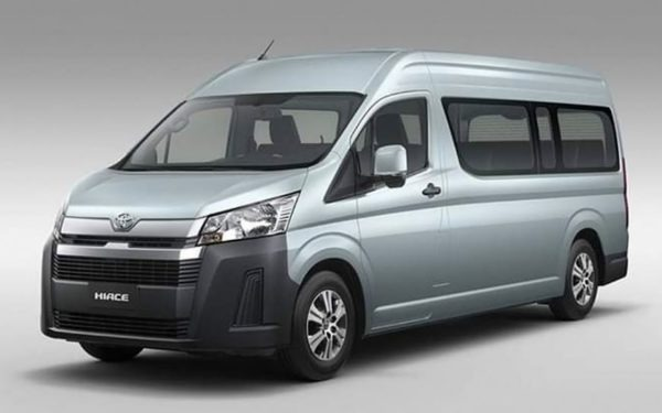2020 Toyota Hiace front & side view