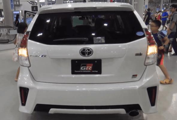2020 Toyota Prius Alpha Rear View