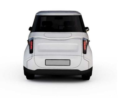2020 Zetta all Electric Cheapest vehicle rear view