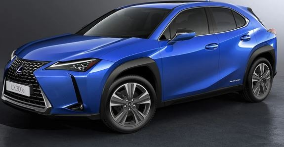 2020 lexus ux300e side view