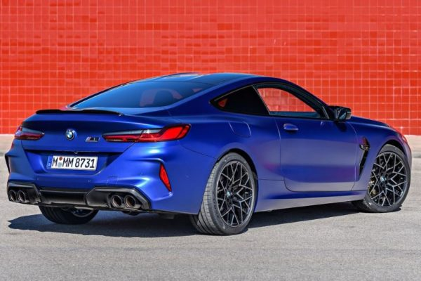 2020 BMW M8 Competition Coupe Rear View