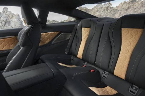 2020 BMW M8 Competition Coupe rear seats