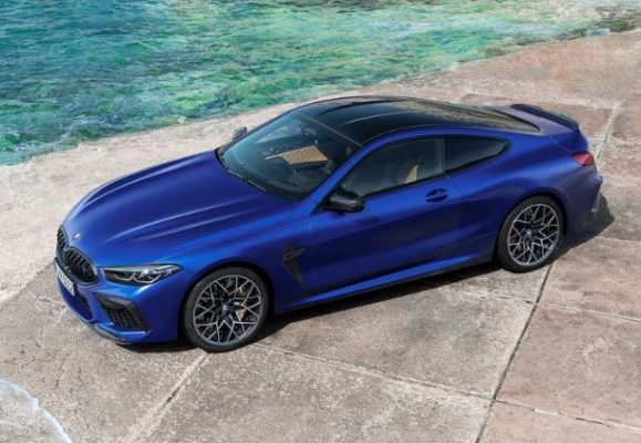 2020 BMW M8 Competition Coupe upside view