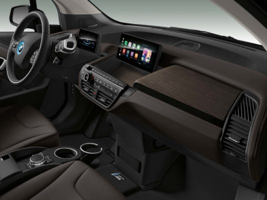 2020 BMW i3 front cabin interior with entertainment screen
