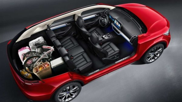 2020 BYD Tang PHEV full inside view with 5 seats