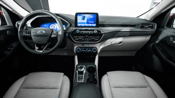 2020 Ford Escape full front cabin interior view