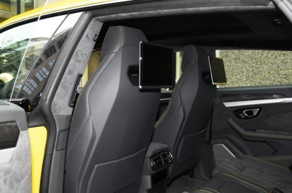 2020 Lamborghini Urus front seats back view