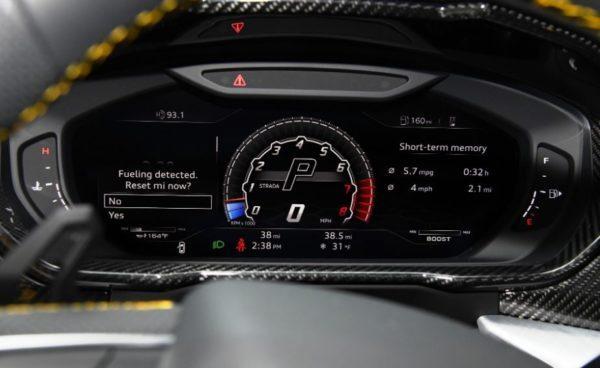 2020 Lamborghini Urus information cluster