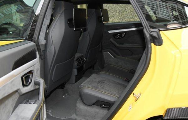 2020 Lamborghini Urus rear cabin view