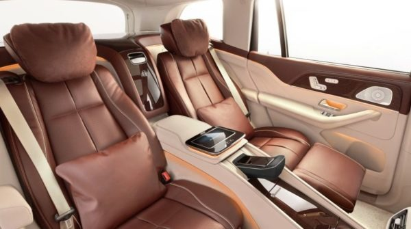 2020 Mercedes Benz Maybach GLS 600 back cabin interior view