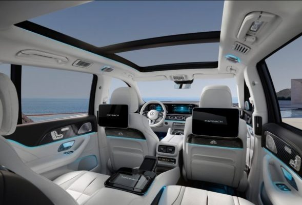 2020 Mercedes Benz maybach GLS 600 white interior full view view