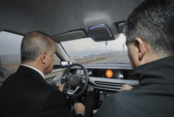 TOGG All Electric SUV drive by erudogan