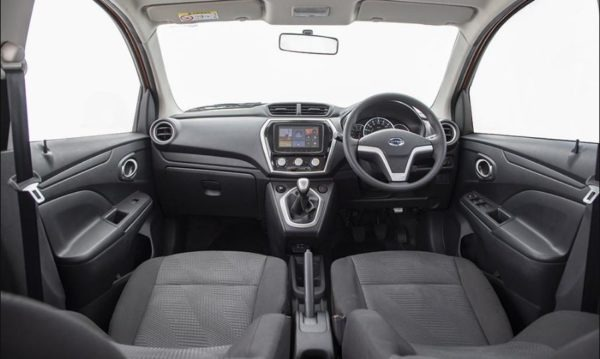 2020 Datsun Go front seats & front cabin full inside view