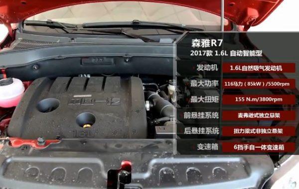 2020 FAW Senya R7 engine & specs
