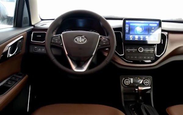 2020 FAW Senya R7 front cabin interior view