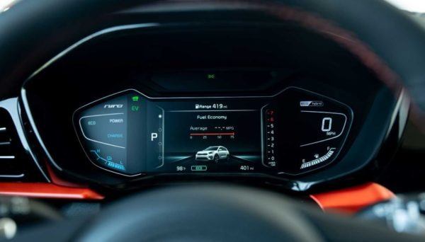 2020 Kia Niro information screen view