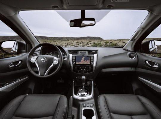 2020 Nissan Navara full front cabin interior view