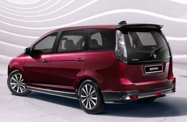 2020 Proton Exora side Rear View