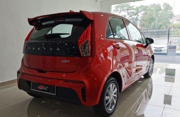 2020 Proton Iriz side rear view