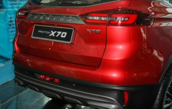 2020 Proton X 70 Rear Tail Lights view