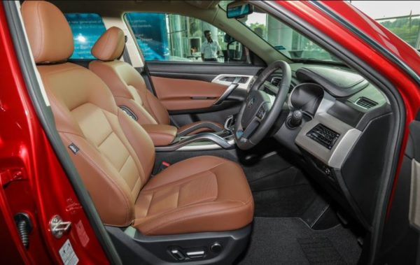 2020 Proton X 70 front seat view