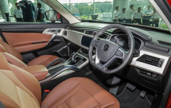 2020 Proton X 70 front seats & infotainment screen view