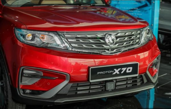 2020 Proton X 70 headlights & Grille View