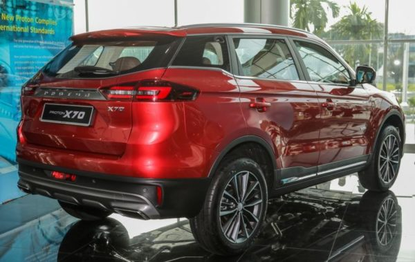 2020 Proton X 70 side rear View