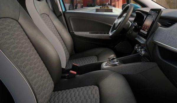 2020 Renault Zoe front seats & cabin