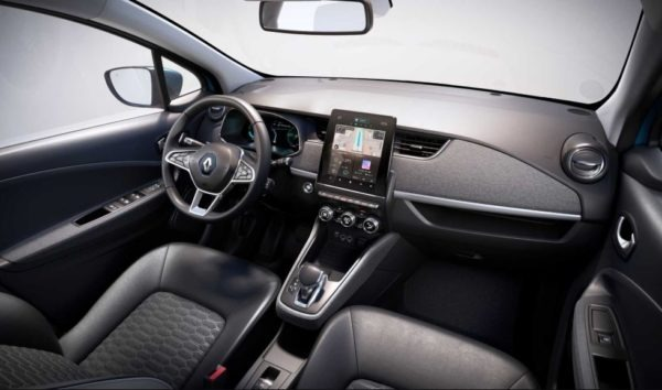 2020 Renault Zoe full front cabin interior view
