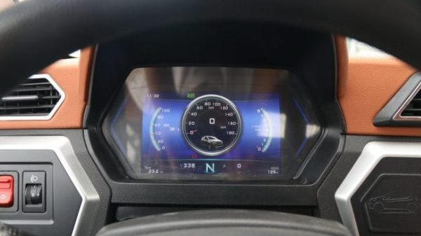 2020 Zotye z100 digital meters view