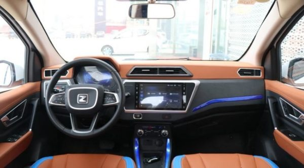 2020 Zotye z100 plus front cabin interior view