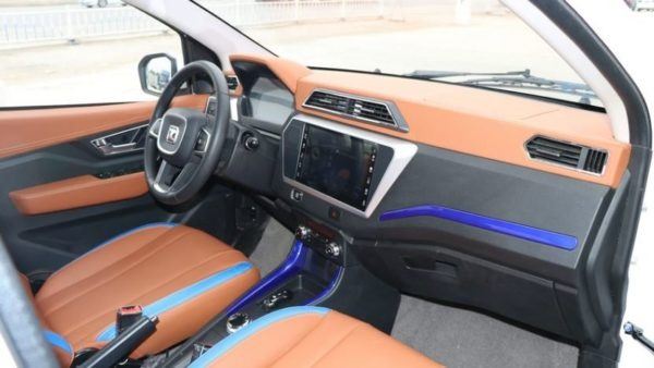2020 Zotye z100 plus leather seats and front cabin interior view