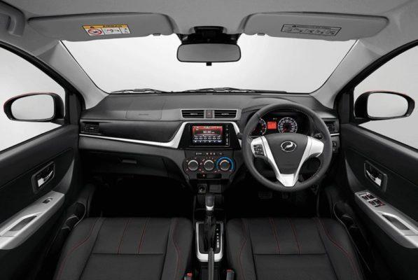 2020 perodua Bezza front cabin interior view