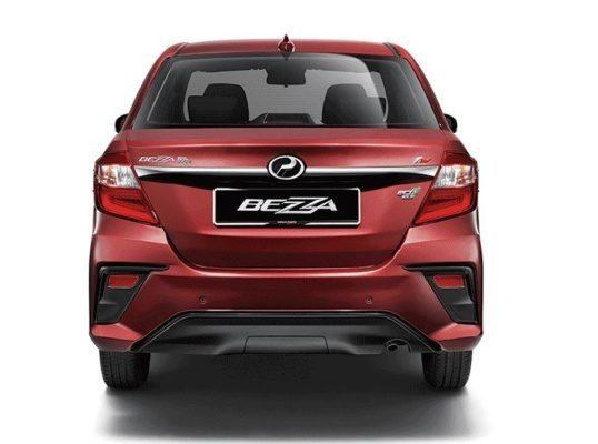 2020 perodua Bezza full Rear view