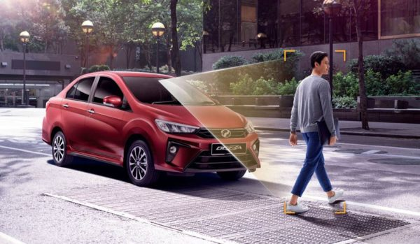 2020 perodua Bezza pedestrian detection system view