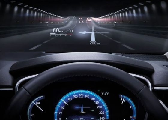 12th Generation Toyota Corolla Altis Head up Display view