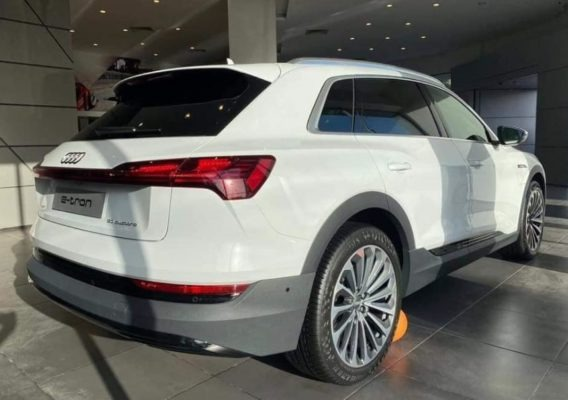 2020 All Electric Audi E-tron Side Rear and Wheels View