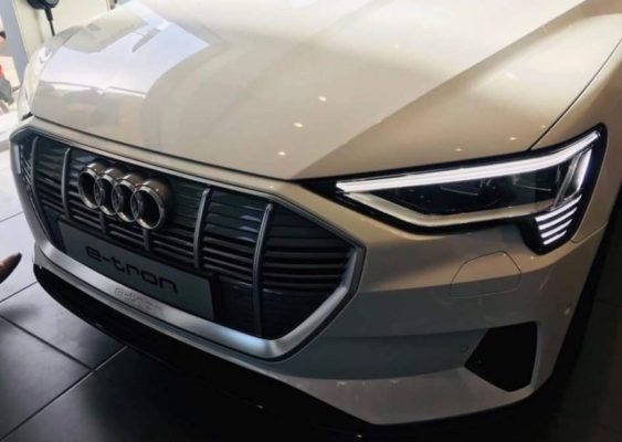 2020 All Electric Audi E-tron front close view