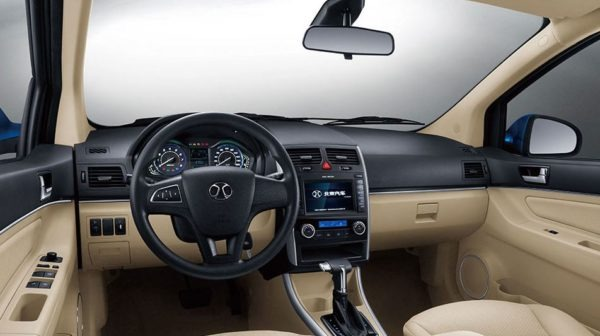 2020 BAIC D20 front cabin full interior view