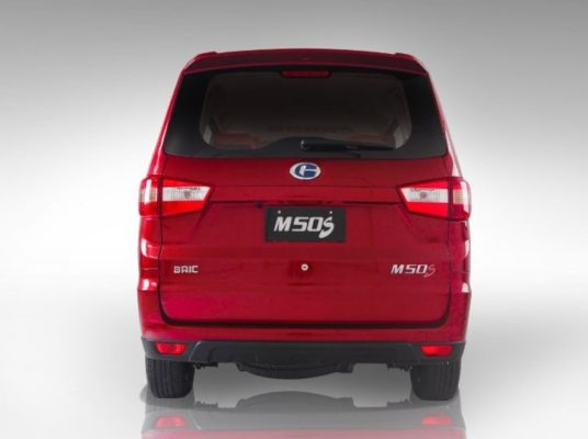 2020 BAIC M50S full Rear view